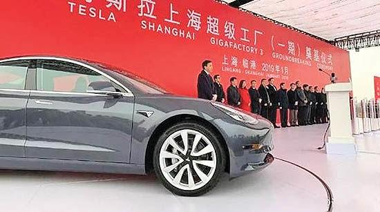 تسلا در چین خودرو می سازد