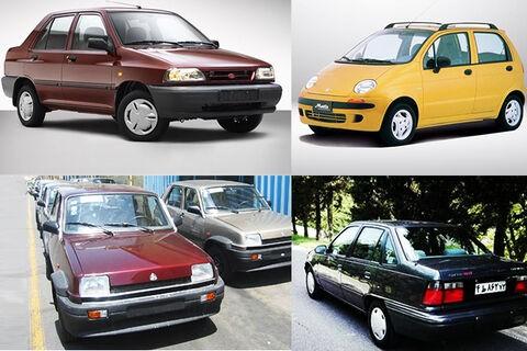 تا ۱۵ میلیون تومان چه خودروهایی میتوانیم بخریم؟ - 20 آذر 98