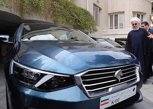 محصول جدید ایران خودرو در حضور روحانی رونمایی شد