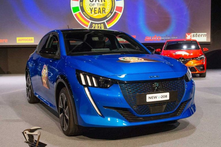 پژو 208، خودروی سال 2020 اروپا