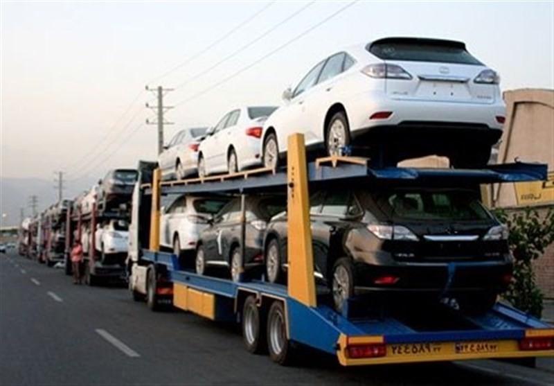 توقیف تریلر حامل خودروهای پلاک تهران در بوشهر!