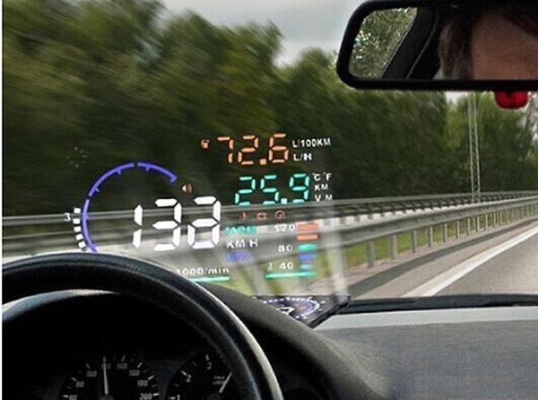 Head up یا نمایش اطلاعات صفحه کیلومتر خودرو روی شیشه جلو چیست؟