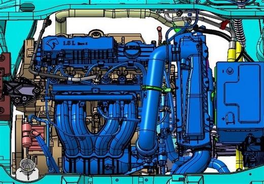 نصب موتور XU پلاس برای اولین بار بر روی سه خودروی پژو ۴۰۵ دوگانهسوز، پارس و سمند