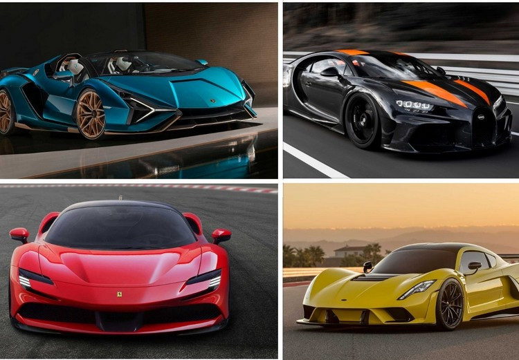 معرفی 14 خودروی فوق سریع در جهان؛ از بوگاتی تا کونیگزگ و فراری + قیمت