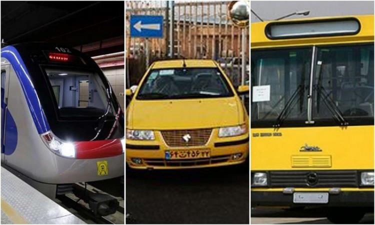 چقدر نرخ کرایه تاکسی و بلیت مترو در سال 1400 افزایش می یابد؟