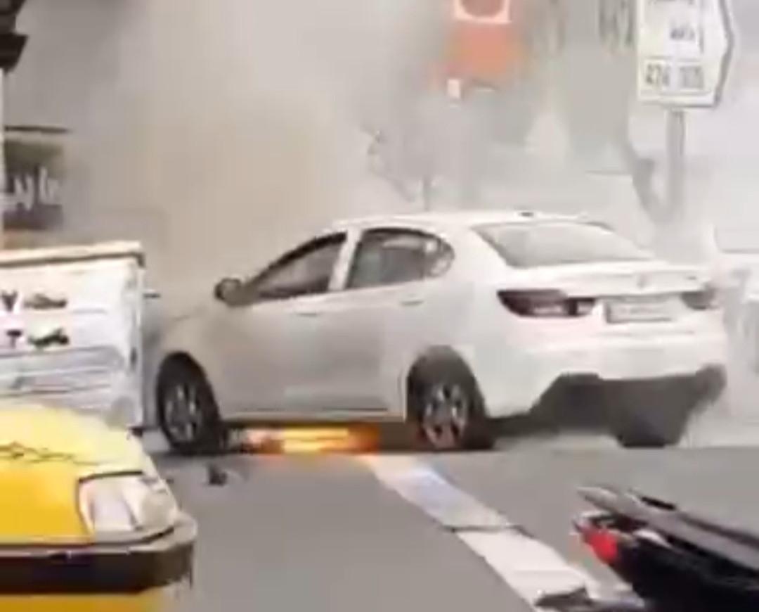 دلیل آتش گرفتن خودروی شاهین سایپا چی بود؟