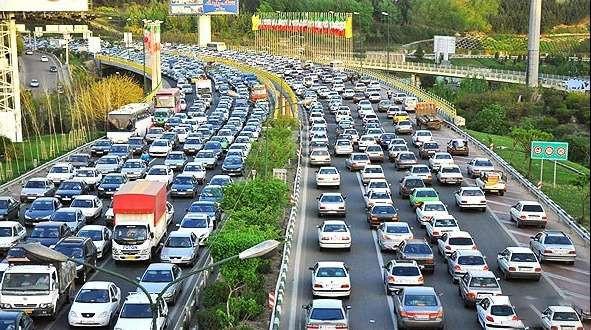 اعلام تعداد خودروها و موتورسیکلت هایی که در تهران تردد دارند